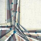Fondo geometrico astratto di vettore, stile moderno Fotografia Stock