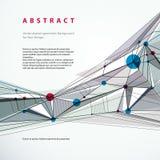 Fondo geometrico astratto di vettore, stile techno Immagine Stock