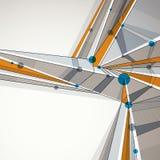Fondo geometrico astratto di vettore, stile techno Immagini Stock