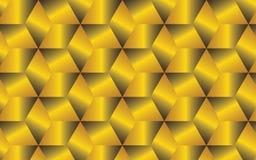Fondo geometrico astratto dorato per le vostre idee creative di progettazione Fotografia Stock Libera da Diritti