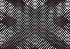 Fondo geometrico astratto monocromatico con le linee, modello a quadretti Vettore illustrazione vettoriale