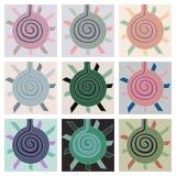Fondo geometrico astratto, progettazione del perno illustrazione vettoriale