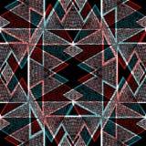 Fondo geometrico astratto senza cuciture di buio del modello Immagine Stock
