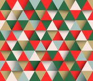 Fondo geometrico astratto triangolare di vettore Fotografie Stock
