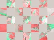 Fondo geometrico astratto variopinto con i quadrati Immagini Stock Libere da Diritti