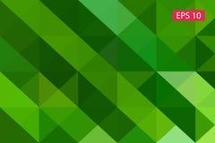 Fondo geometrico astratto verde, dai poligoni, fondo del triangolo, illustrazione, modello, te triangolare Immagine Stock