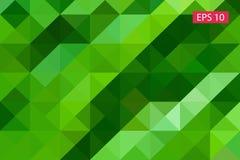 Fondo geometrico astratto verde, dai poligoni, fondo del triangolo, illustrazione, modello, te triangolare Immagini Stock
