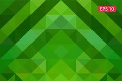 Fondo geometrico astratto verde, dai poligoni, fondo del triangolo, illustrazione, modello, te triangolare Immagine Stock Libera da Diritti