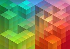 Fondo geometrico astratto, vettore Immagini Stock Libere da Diritti