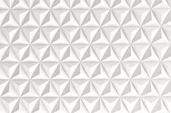 Fondo geometrico bianco astratto 3d rendono Immagini Stock