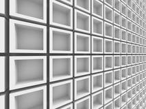 Fondo geometrico bianco astratto del modello Fotografia Stock