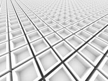 Fondo geometrico bianco astratto del modello Immagini Stock