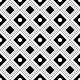 Fondo geometrico in bianco e nero senza cuciture di vettore Fotografie Stock Libere da Diritti
