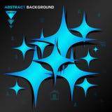 Fondo geometrico blu astratto di vettore illustrazione di stock