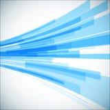 Fondo geometrico blu astratto prospettiva 3D Fotografia Stock Libera da Diritti