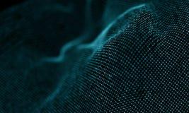 Fondo geometrico blu astratto Stile futuristico di tecnologia Segno al neon Tecnologia futuristica HUD Element royalty illustrazione gratis