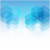 Fondo geometrico blu con il posto per testo eps10 Immagine Stock