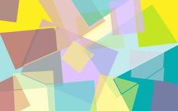 Fondo geometrico colorato luminoso astratto illustrazione vettoriale