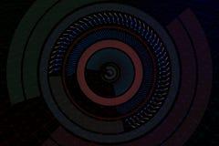 Fondo geometrico con gli elementi del hud illustrazione 3D Immagini Stock