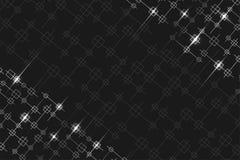 Fondo geometrico con i quadrati e le linee d'argento illustrazione vettoriale