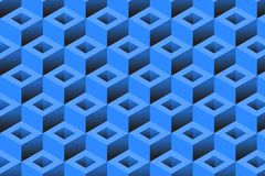 Fondo geometrico cubico royalty illustrazione gratis
