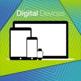 Fondo geometrico degli insiemi digitali moderni dei dispositivi Fotografia Stock Libera da Diritti
