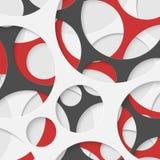 Fondo geometrico dei cerchi astratti di vettore Immagine Stock