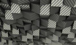 Fondo geometrico del carbonio 3d Fotografia Stock Libera da Diritti