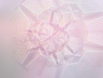 Fondo geometrico del fiocco di neve Fotografia Stock Libera da Diritti
