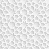 fondo geometrico del motivo a stelle 3d Immagini Stock