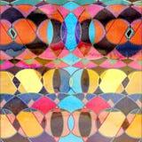 Fondo geometrico dell'acquerello astratto illustrazione di stock