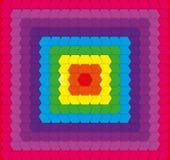 Fondo geometrico dell'arcobaleno Fotografie Stock Libere da Diritti