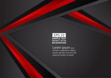 Fondo geometrico dell'estratto di colore nero e rosso con lo spazio per la vostra progettazione moderna di affari, illustrazione  illustrazione vettoriale