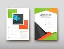 Fondo geometrico dell'estratto di presentazione della copertura dell'opuscolo, disposizione in modello stabilito di progettazione Royalty Illustrazione gratis