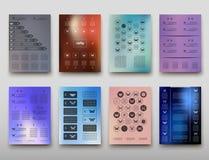 Fondo geometrico dell'estratto di presentazione di infographics della copertura dell'opuscolo, disposizione nella progettazione s Illustrazione Vettoriale