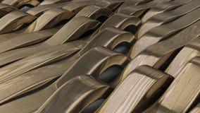 fondo geometrico della carta da parati dell'estratto del tessuto 3D stock footage