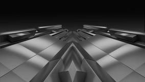 Fondo geometrico dello specchio Immagini Stock