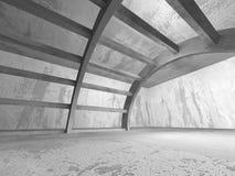 Fondo geometrico di architettura Inte concreto scuro vuoto della stanza Fotografie Stock