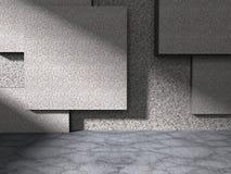Fondo geometrico di architettura Parete di pietra concreta Immagine Stock