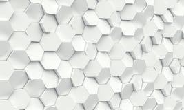 Fondo geometrico di esagono Fotografia Stock