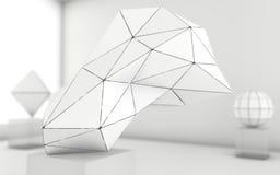 Fondo geometrico di forme di gradazione di grigio astratta royalty illustrazione gratis