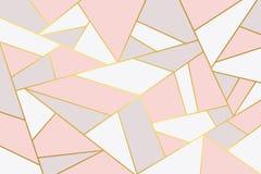 Fondo geometrico di lusso grigio rosa illustrazione di stock
