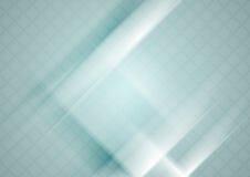 Fondo geometrico di tecnologia blu con struttura dei quadrati royalty illustrazione gratis