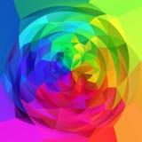 Fondo geometrico di turbinio di astrattismo - arcobaleno pieno di spettro colorato royalty illustrazione gratis