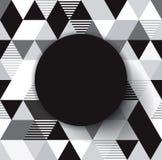 Fondo geometrico di vettore in bianco e nero. Fotografie Stock