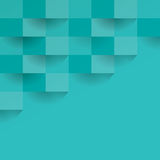 Fondo geometrico di vettore del blu verdastro Immagine Stock