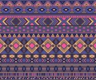 Fondo geometrico di vettore di motivi etnici tribali indiani americani del modello illustrazione di stock