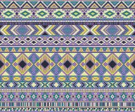 Fondo geometrico di vettore di motivi etnici tribali indiani americani del modello Fotografie Stock