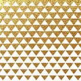 Fondo geometrico di vettore di scintillio astratto dell'oro Fotografie Stock