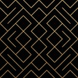 Fondo geometrico dorato del modello con struttura astratta della maglia di scintillio dell'oro Vector il modello decorato senza c illustrazione vettoriale